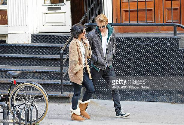 Vanessa Hudgens and boyfriend Austin Butler are seen on March 17 2012 in New York City