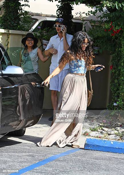 Vanessa Hudgens and her mother Gina Hudgens are seen on May 11 2012 in Los Angeles California
