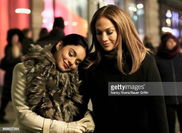 Vanessa Hudgens and Jennifer Lopez are seen on December 08 2017 in New York City