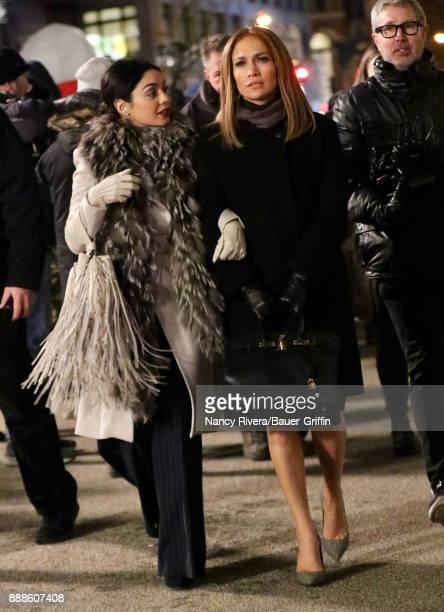 Vanessa Hudgens and Jennifer Lopez are seen on December 08 2017 in New York City