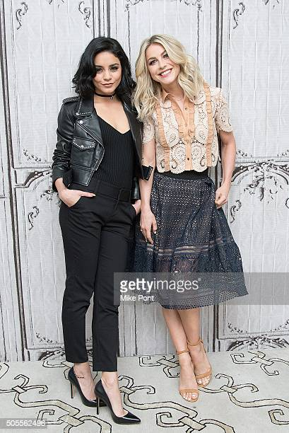Vanessa Hudgens and Julianne Hough attend the AOL Build Speaker Series to discuss the television production of 'GREASE LIVE' at AOL Studios In New...