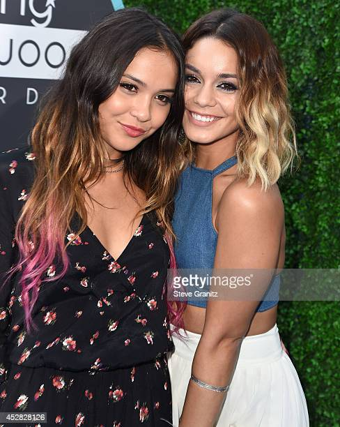 Vanessa Hudgens and Stella Hudgens arrives at the 16th Annual Young Hollywood Awards at The Wiltern on July 27 2014 in Los Angeles California