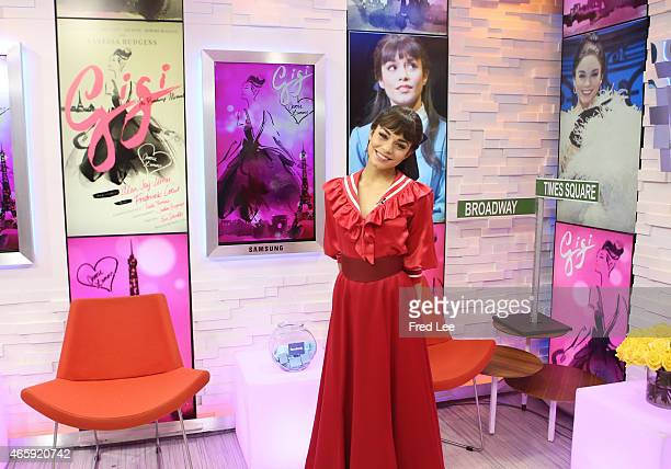 AMERICA Vanessa Hudgens and the cast of Broadway's 'Gigi' perform live on 'Good Morning America' 3/11/15 airing on the ABC Television Network