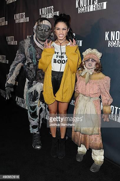 Vanessa Hudgens arrives at Knott's Scary Farm on October 1 2015 in Buena Park California
