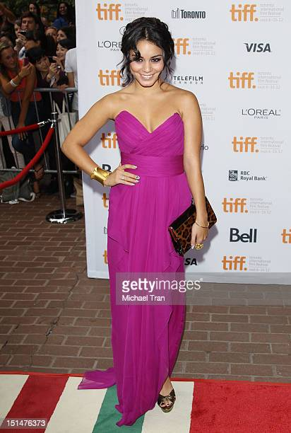 Vanessa Hudgens arrives at Spring Breakers premiere during the 2012 Toronto International Film Festival held at Ryerson Theatre on September 7 2012...