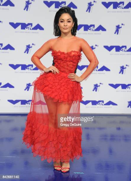 Vanessa Hudgens arrives at the 2017 MTV Video Music Awards at The Forum on August 27 2017 in Inglewood California