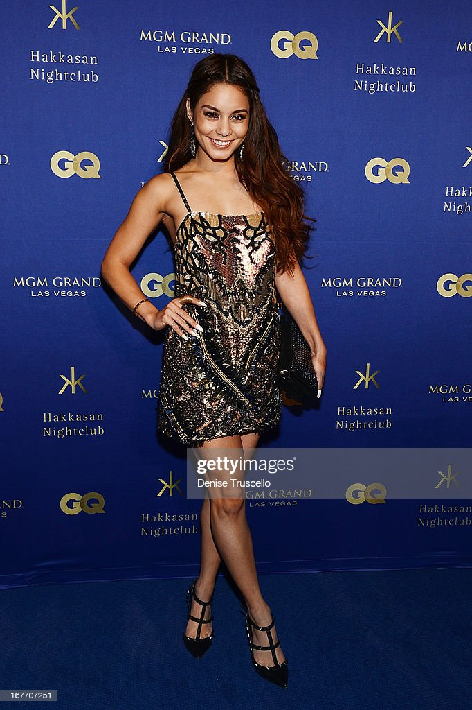 Vanessa Hudgens arrives at the grand opening of Hakkasan Nightclub at the MGM Grand on April 27, 2013 in Las Vegas, Nevada.