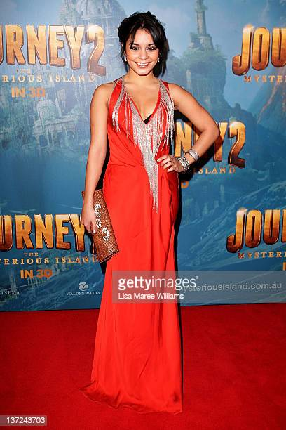 Vanessa Hudgens arrives at the 'Journey 2 The Mysterious Island' Sydney premiere on January 17 2012 in Sydney Australia