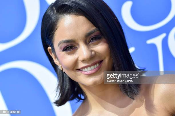 Vanessa Hudgens arrives at the premiere of LD Entertainment's 'Dog Days' at Westfield Century City on August 5 2018 in Century City California
