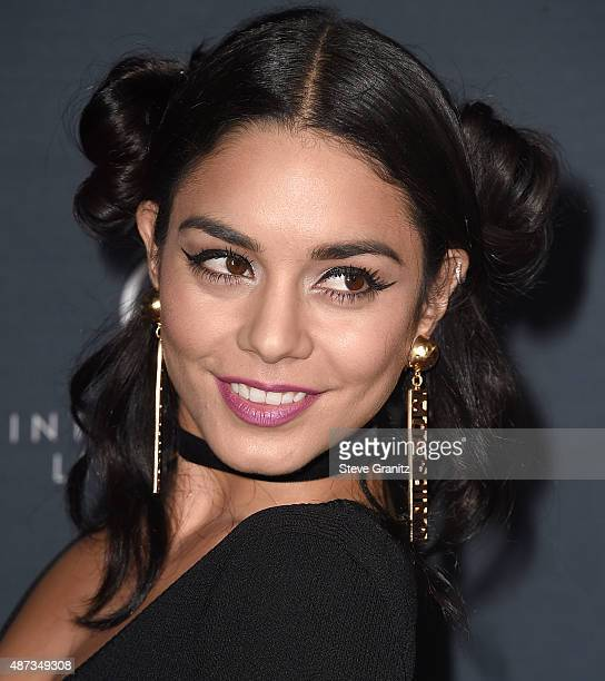 Vanessa Hudgens arrives at the Premiere Of The Vladar Company's 'Jeremy Scott The People's Designer' at TCL Chinese 6 Theatres on September 8 2015 in...