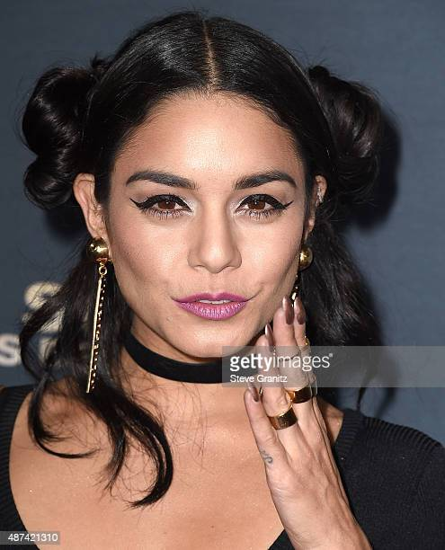 Vanessa Hudgens arrives at the Premiere Of The Vladar Company's Jeremy Scott The People's Designer at TCL Chinese 6 Theatres on September 8 2015 in...