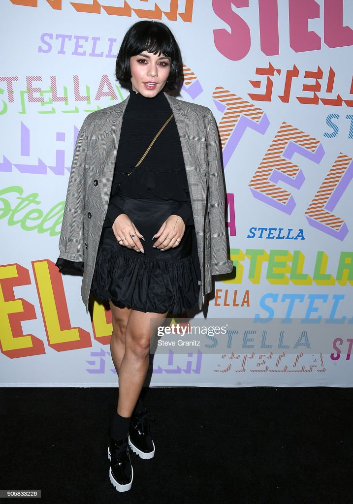 Vanessa Hudgens arrives at the Stella McCartney's Autumn 2018 Collection Launch on January 16, 2018 in Los Angeles, California.