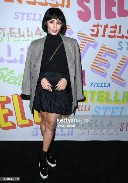 Vanessa Hudgens arrives at the Stella McCartney's Autumn 2018 Collection Launch on January 16 2018 in Los Angeles California