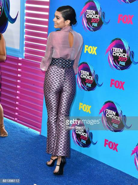 Vanessa Hudgens arrives at the Teen Choice Awards 2017 at Galen Center on August 13 2017 in Los Angeles California