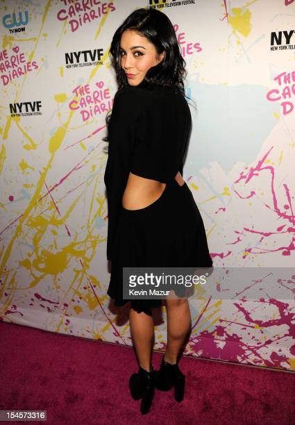 Vanessa Hudgens arrives to the red carpet world premiere of The Carrie Diaries at the New York Television Festival at SVA Theater on October 22 2012...