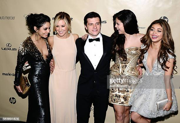 Vanessa Hudgens Ashley Tisdale Josh Hutcherson Selena Gomez and Sarah Highland at The Weinstein Company 2013 Golden Globes After Party at The Old...