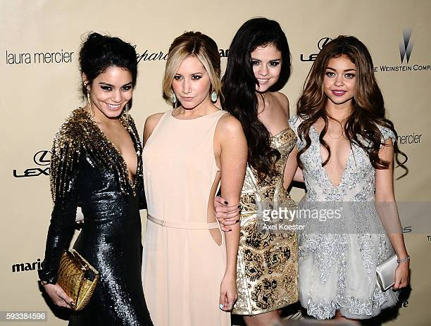 Vanessa Hudgens Ashley Tisdale Selena Gomez and Sarah Highland at The Weinstein Company 2013 Golden Globes After Party at The Old Trader Vic's at the...