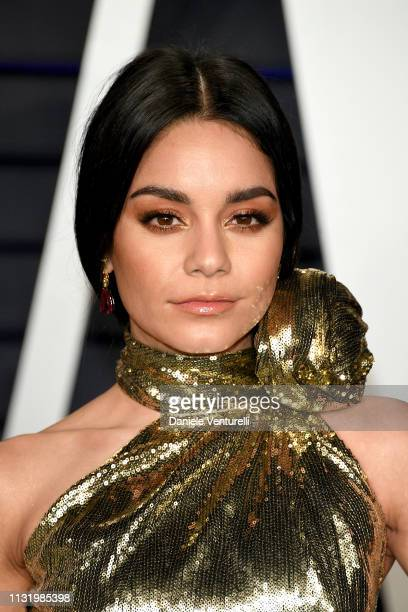 Vanessa Hudgens attends 2019 Vanity Fair Oscar Party Hosted By Radhika Jones Arrivals at Wallis Annenberg Center for the Performing Arts on February...