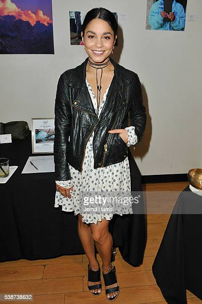 Vanessa Hudgens attends Cloud Forest Institute hosts an evening with Ed Viesturs at Writer's Boot Camp on June 7 2016 in Santa Monica California