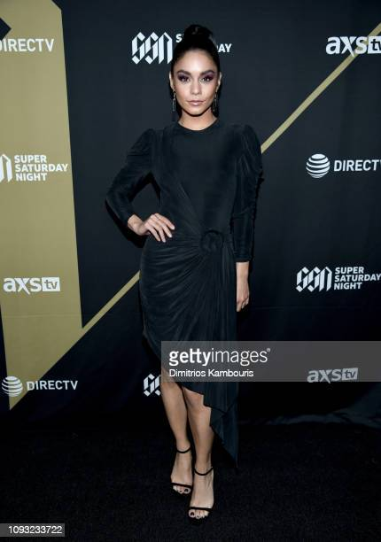 Vanessa Hudgens attends DIRECTV Super Saturday Night 2019 at Atlantic Station on February 2, 2019 in Atlanta, Georgia.