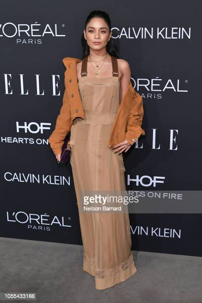 Vanessa Hudgens attends ELLE's 25th Annual Women In Hollywood Celebration presented by L'Oreal Paris Hearts On Fire and CALVIN KLEIN at Four Seasons...