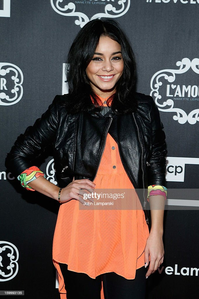 Vanessa Hudgens attends JCPenney and Nanette Lepore Launch Event for L'Amour by Nanette Lepore at Good Units on January 24, 2013 in New York City.