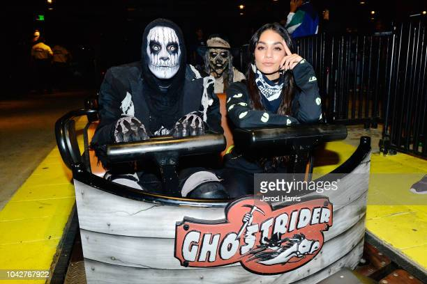 Vanessa Hudgens attends Knott's Scary Farm at Knott's Berry Farm on September 28 2018 in Buena Park California