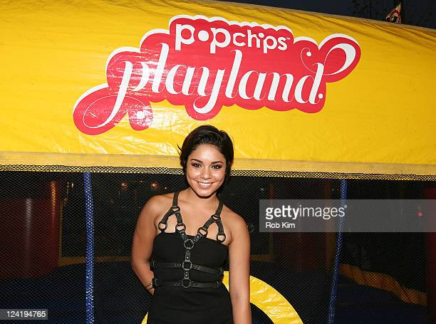 Vanessa Hudgens attends Popchips Playland at New York Fashion Week's Fashion's Night Out on September 8 2011 in New York City