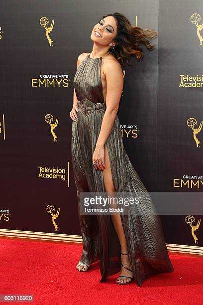 Vanessa Hudgens attends the 2016 Creative Arts Emmy Awards held at Microsoft Theater on September 11 2016 in Los Angeles California