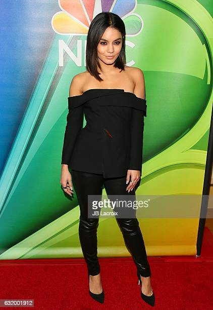 Vanessa Hudgens attends the 2017 NBCUniversal Winter Press Tour Day 2 at Langham Hotel on January 18 2017 in Pasadena California