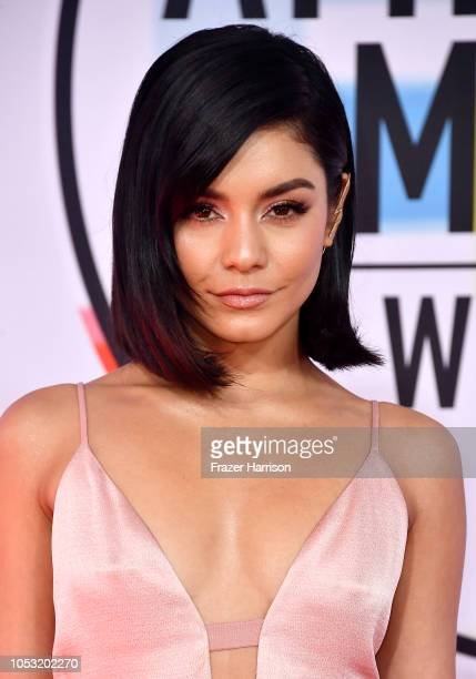 Vanessa Hudgens attends the 2018 American Music Awards at Microsoft Theater on October 09 2018 in Los Angeles California