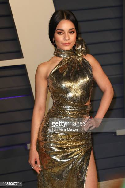 Vanessa Hudgens attends the 2019 Vanity Fair Oscar Party hosted by Radhika Jones at Wallis Annenberg Center for the Performing Arts on February 24...