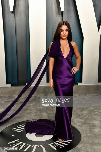 Vanessa Hudgens attends the 2020 Vanity Fair Oscar Party hosted by Radhika Jones at Wallis Annenberg Center for the Performing Arts on February 09...