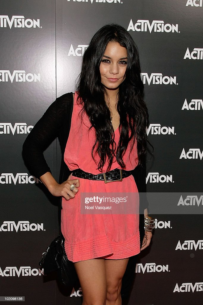 Vanessa Hudgens attends the Activision E3 2010 kick-off event at the Staples Center on June 14, 2010 in Los Angeles, California.