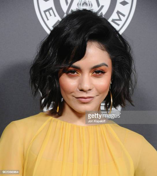 Vanessa Hudgens attends The Art Of Elysium's 11th Annual Celebration Heaven at Barker Hangar on January 6 2018 in Santa Monica California