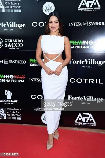 Vanessa Hudgens attends the Filming Italy Festival at Forte Village Resort on July 22, 2021 in Santa Margherita di Pula, Italy.