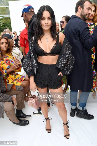 Vanessa Hudgens attends the front row of Carolina Herrera fashion show during New York Fashion Weekon September 09, 2019 in New York City.