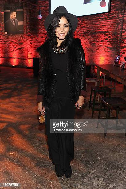 Vanessa Hudgens attends the John Varvatos Celebration of The New JohnVarvatoscom on February 5 2013 in New York United States