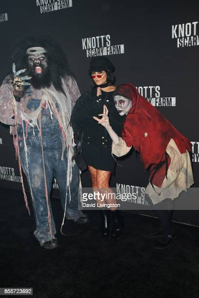 Vanessa Hudgens attends the Knott's Scary Farm and Instagram's Celebrity Night at Knott's Berry Farm on September 29 2017 in Buena Park California