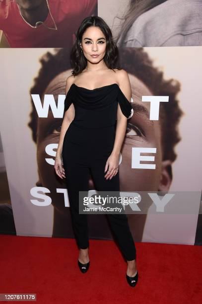 Vanessa Hudgens attends the opening night of West Side Story at Broadway Theatre on February 20 2020 in New York City