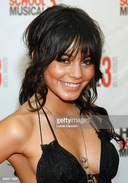 Vanessa Hudgens attends the premiere of 'High School Musical 3 Senior Year' at the Village Jam Factory on November 12 2008 in Melbourne Australia
