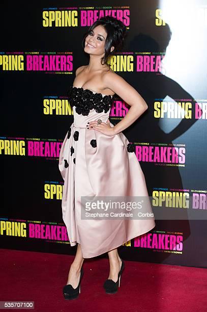 Vanessa Hudgens attends the 'Spring Breakers' Paris Premiere at Le Grand Rex in Paris