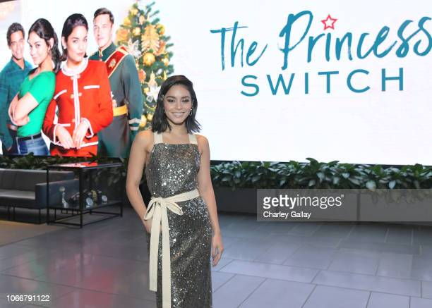 Vanessa Hudgens attends the The Princess Switch Special Screening at NETFLIX Icon Building on November 12 2018 in Los Angeles California