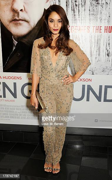 Vanessa Hudgens attends the UK Premiere of 'The Frozen Ground' at Vue West End on July 17 2013 in London England