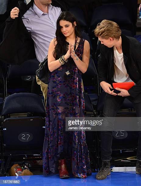 Vanessa Hudgens attends the Washington Wizards vs New York Knicks game at Madison Square Garden on November 30 2012 in New York City