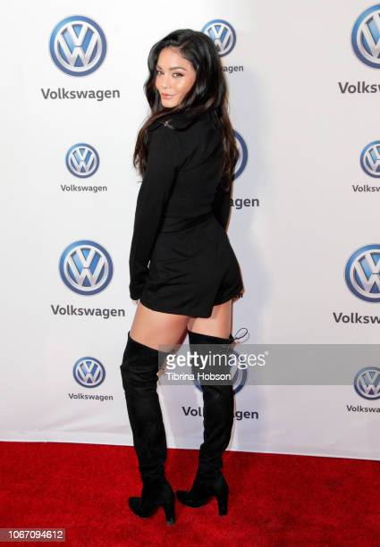 Vanessa Hudgens attends Volkswagen's annual Holiday DriveIn at Goya Studios on November 30 2018 in Los Angeles California