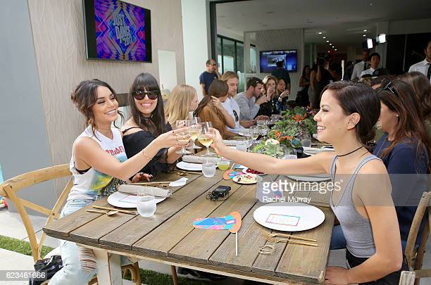 Vanessa Hudgens hosts Just Dance 2017 Friendsgiving on November 15 2016 in Los Angeles California