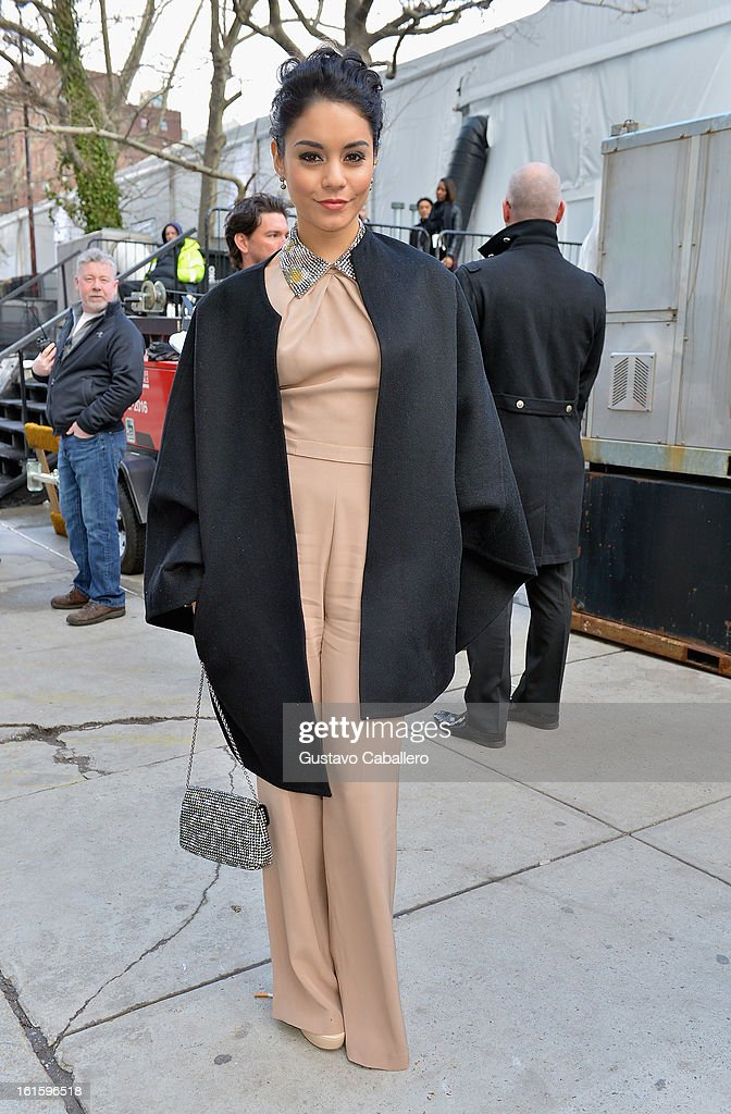 Vanessa Hudgens is seen Around Lincoln Center - Day 6 - Fall 2013 Mercedes-Benz Fashion Week at Lincoln Center for the Performing Arts on February 12, 2013 in New York City.