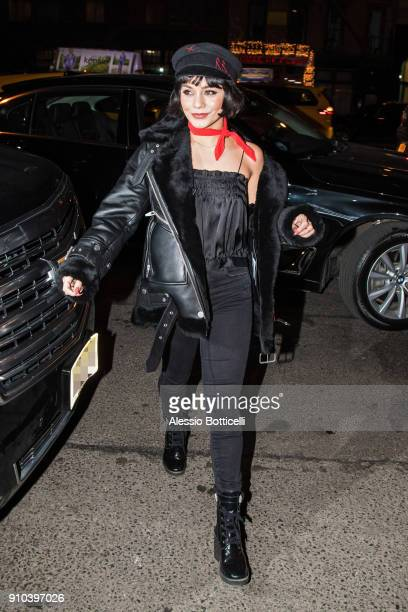 Vanessa Hudgens is seen arriving at Bowery Hotel on January 25 2018 in New York New York