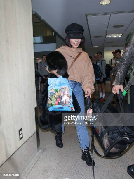 Vanessa Hudgens is seen at Los Angeles International Airport on December 16 2017 in Los Angeles California